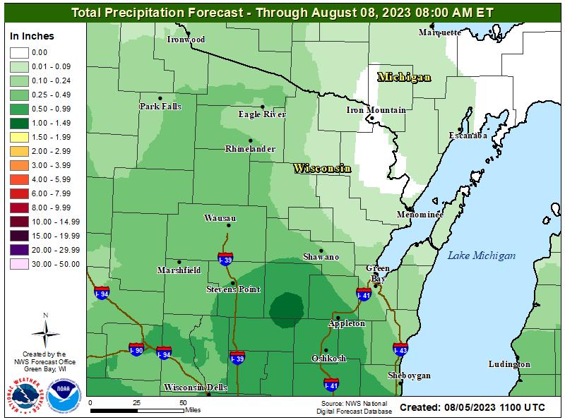 3 Day Precipitation Forecast