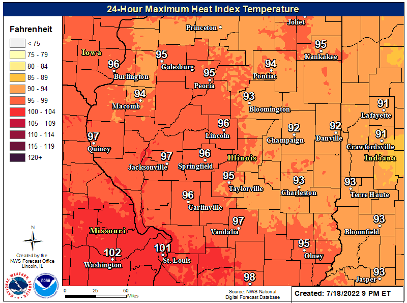 Maximum Heat Index Today
