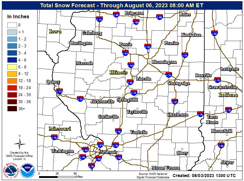 Snow accumulation forecast next 48 hours