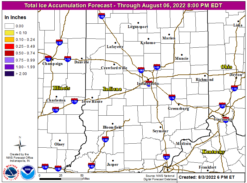 Indiana Ice Accumulation Forecast