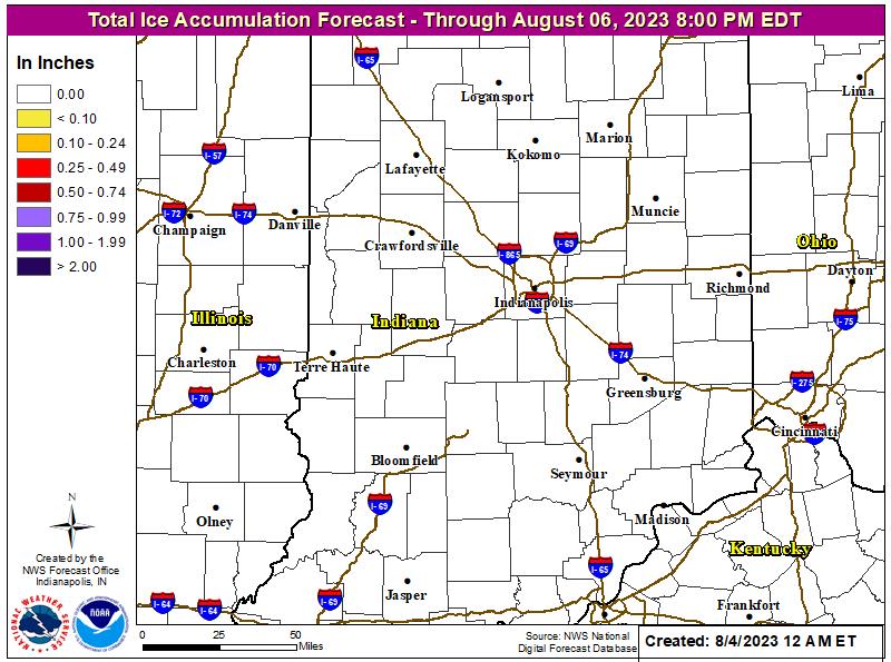 Indiana Ice Accumulation Forecast