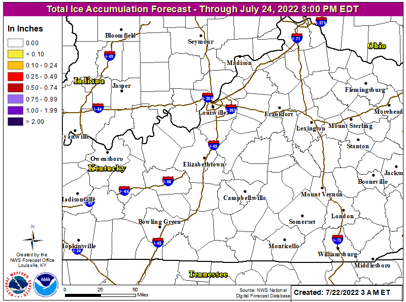 Image of Central KY/Southern IN Forecast Ice Amounts for the Next 3 Days