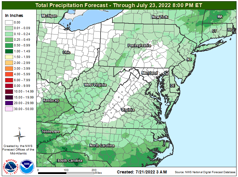 Quantified Precipitation Forecast (3 Day)