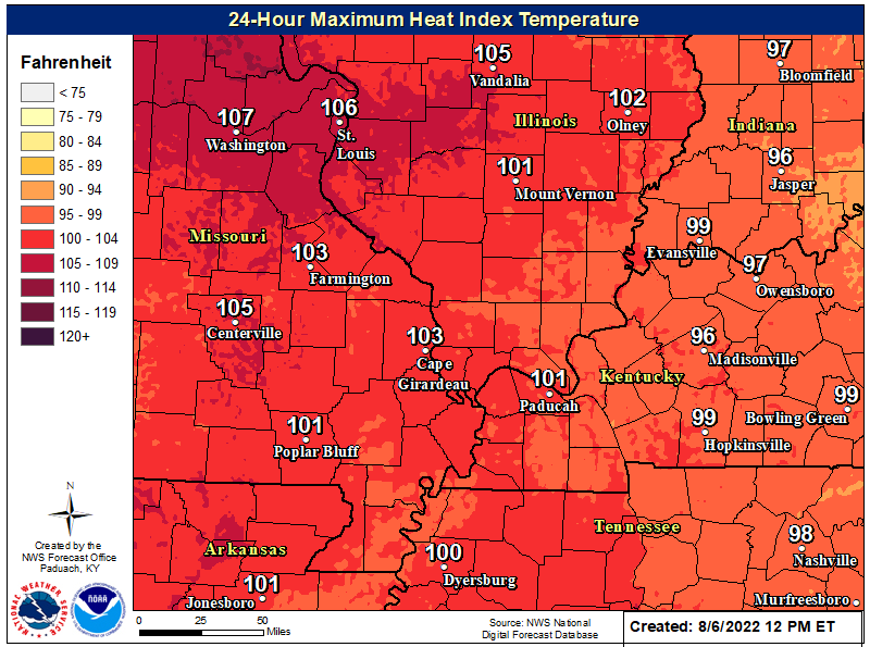 Maximum Heat Index Forecast