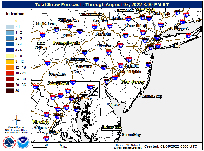 IF IMAGE IS MISSING CLICK HERE NJ Snow Map - Click to enlarge
