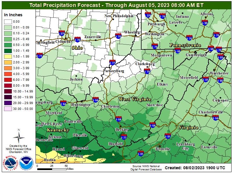 3 Day Quantified Precipitation Forecast