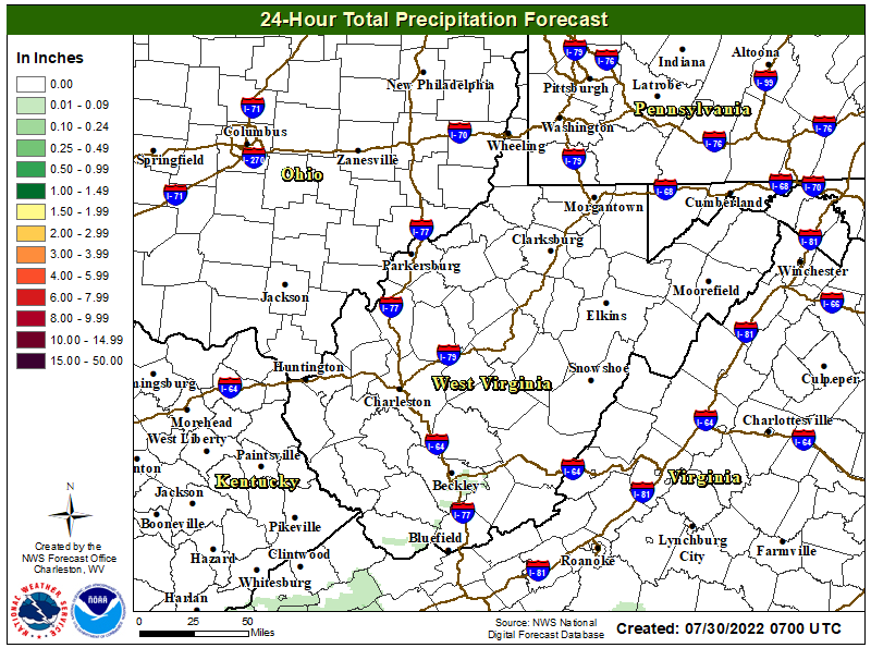 24 Hour Quantified Precipitation Forecast