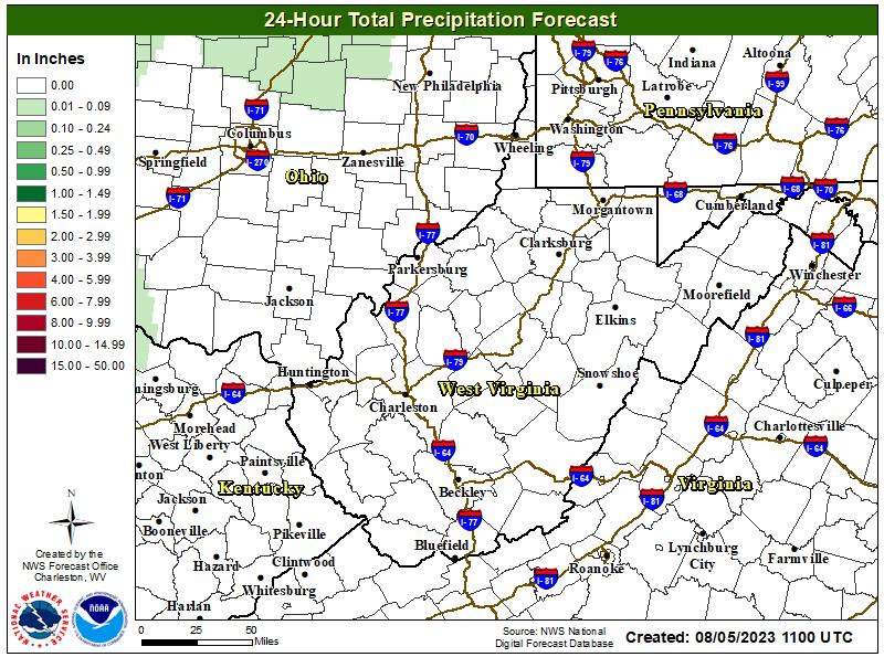 Quatified Preipitation Forecast (24 Hours)