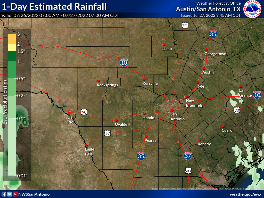 Map Of Texas Weather.Observed Rainfall