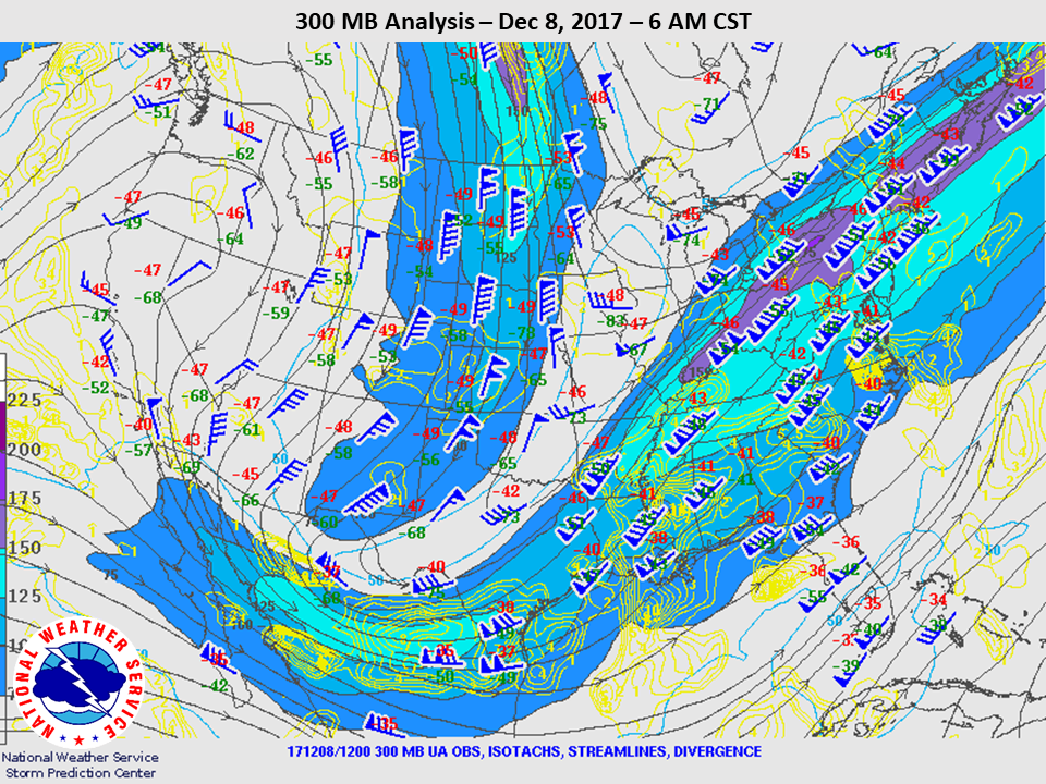 300mb Analysis at 6am CST on Dec 8th