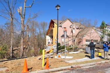 [ Heavily damaged home in Buford ]
