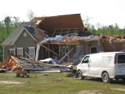 [ Tornado Damage from Monroe county. ]