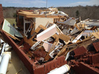 [ Home Destroyed in Harelson Co. ]