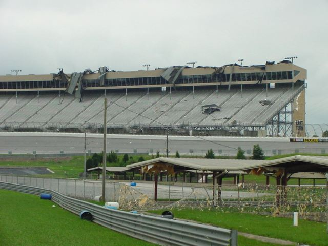 damage to atlanta motor speedway and tara field due to tropical storm cindy