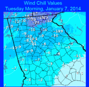 [Observed Wind Chills January 7, 2014]