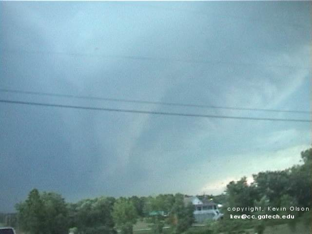 funnel cloud over Hall County