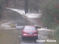 [ Flooding on Dry Creek - driveway washing out at 70 Doris Road NW Adairsville ]