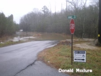 [ Flooding on Dry Creek - Wayside Road NW just north of Doris Road NW Adairsville. ]