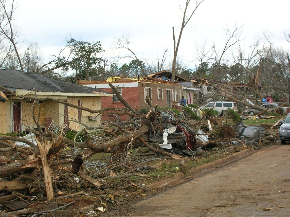 homes damaged by tornadoes