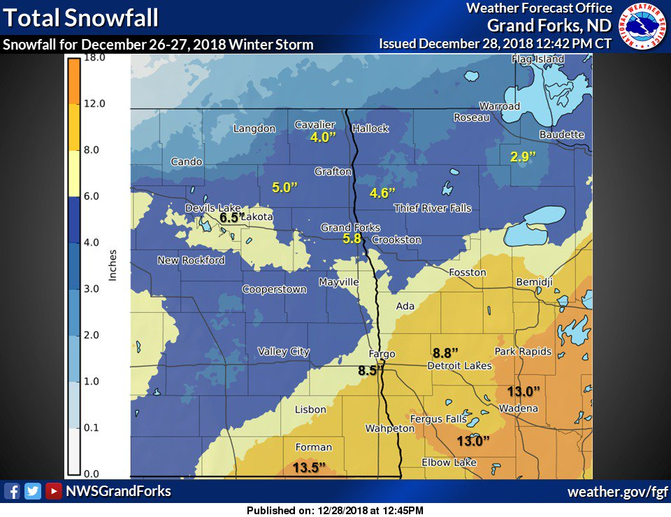 Summary National Weather Service Eastern Nd Grand Forks Nd 1111 Am Cst Fri Dec 28 2018 Time Event City Location Lat Lon Date