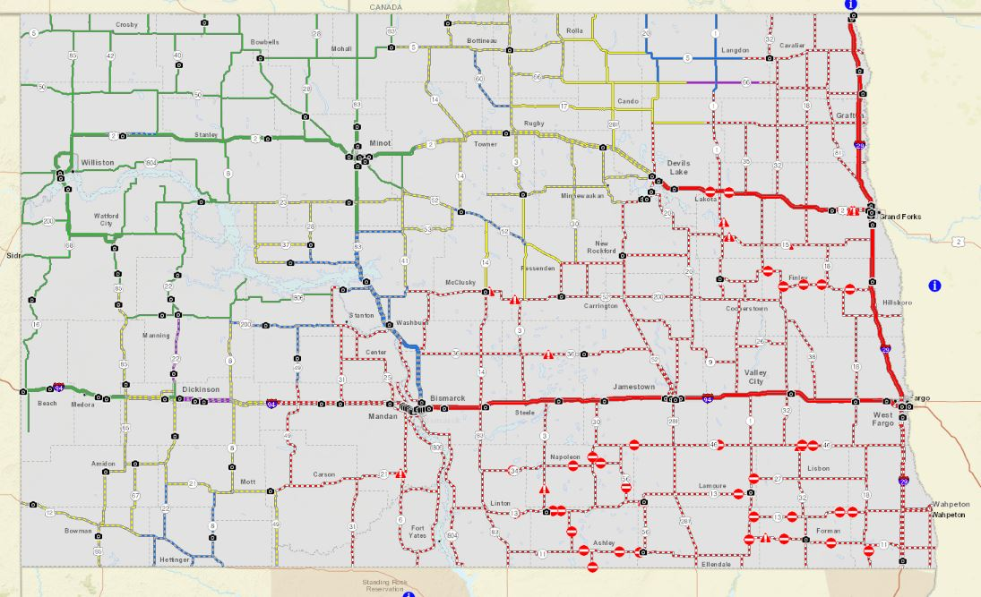 Review of March 14, 2019 Blizzard Event over eastern North ... on montana road conditions map, modot road map, mn road construction map, n dakota road map, weather north dakota road map, mt dot road map, south dakota road map, minnesota road map, north dakota road conditions map, mndot road map, road travel weather map, iowa road map, indot road map, michigan road closures map, north dakota travel road map,
