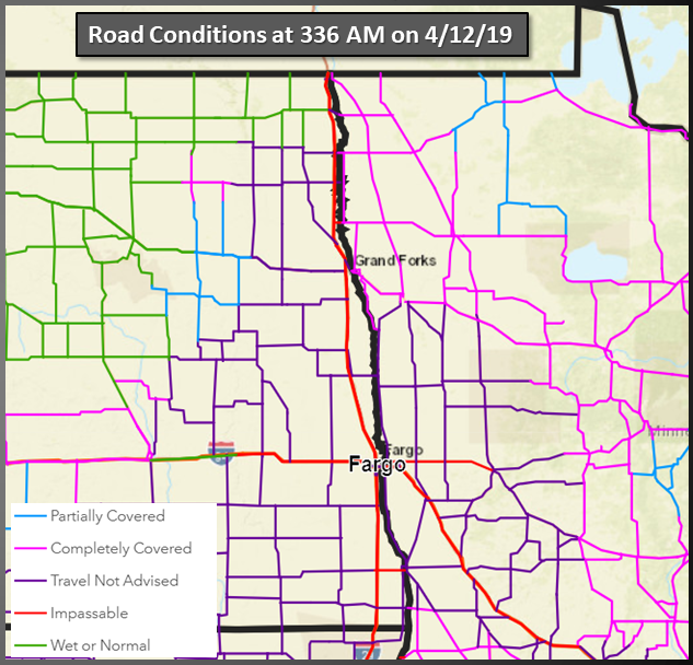 Region-wide Road Condition Map