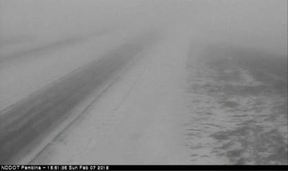 Pembina NDDOT Webcam Reduced Visibility