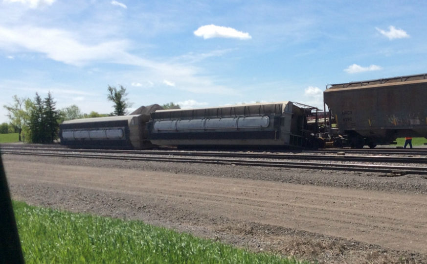 Train Cars Tipped