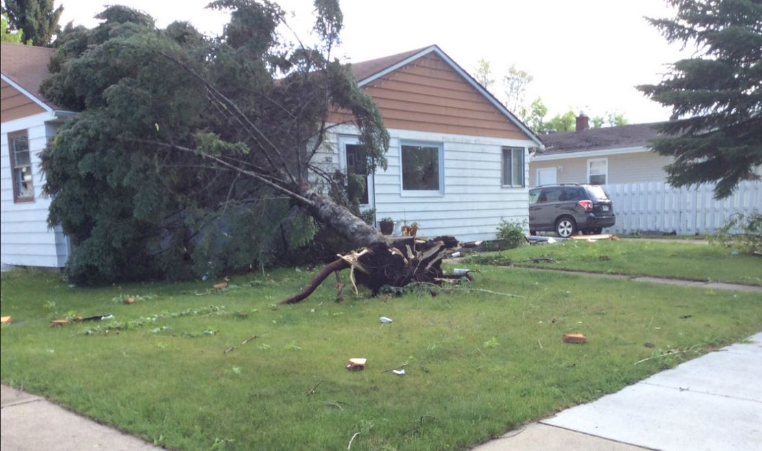 May 22 2016 Storm Summary Grand Forks Wind