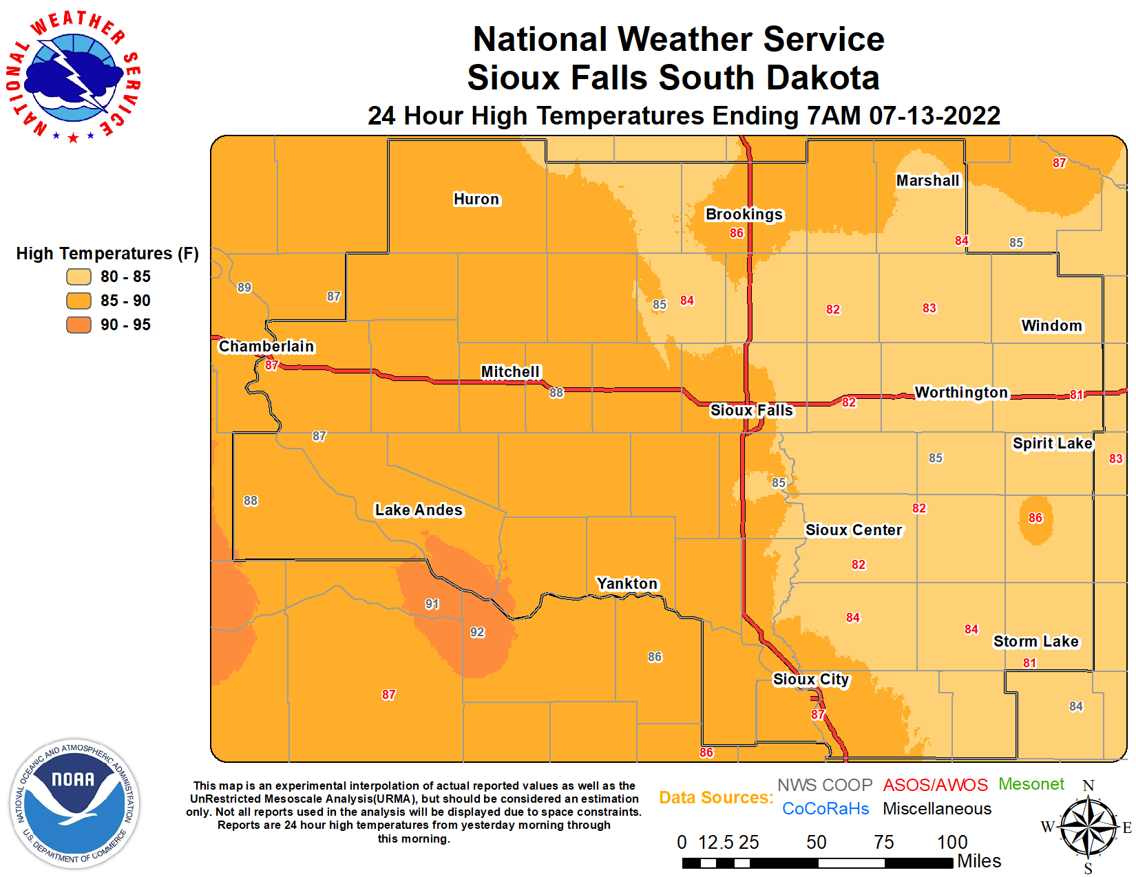 Daily Maps for 24 Hour Weather Reports