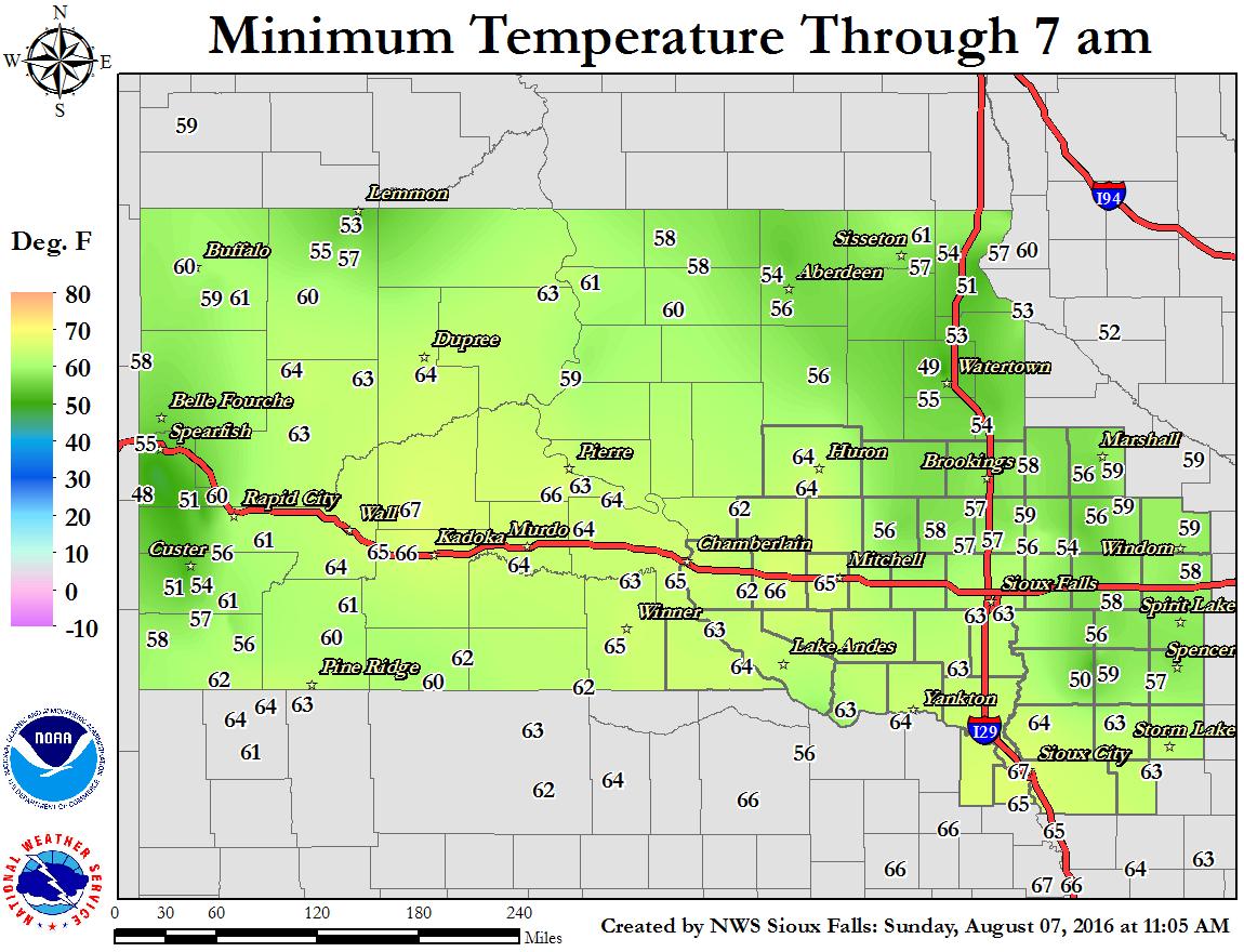 Current observations - Temperature minimum maison ...