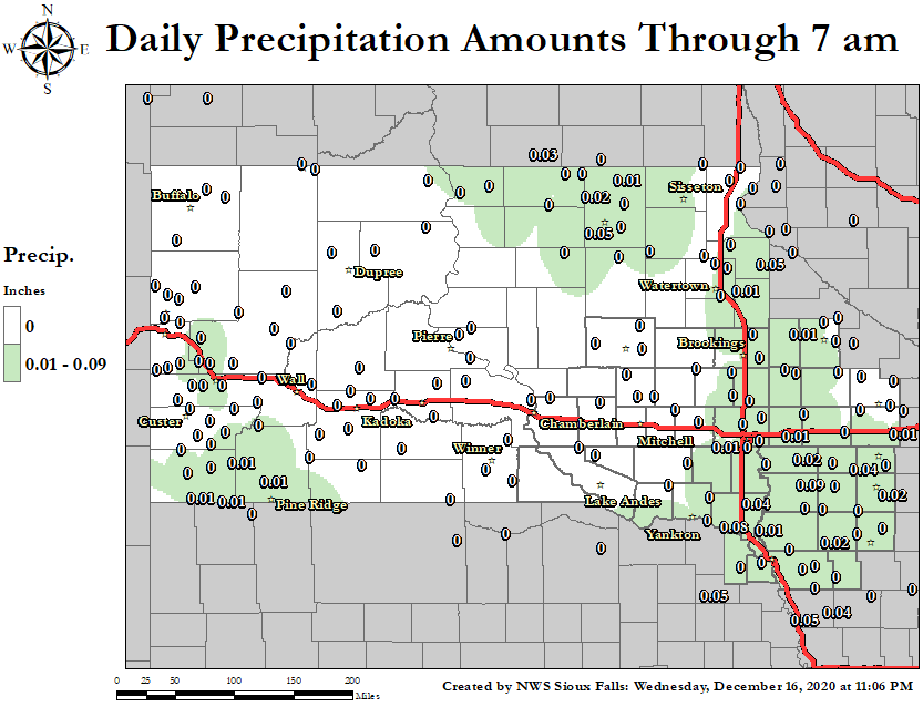 24 Hour Precipitation Map.  Click map for a larger view.