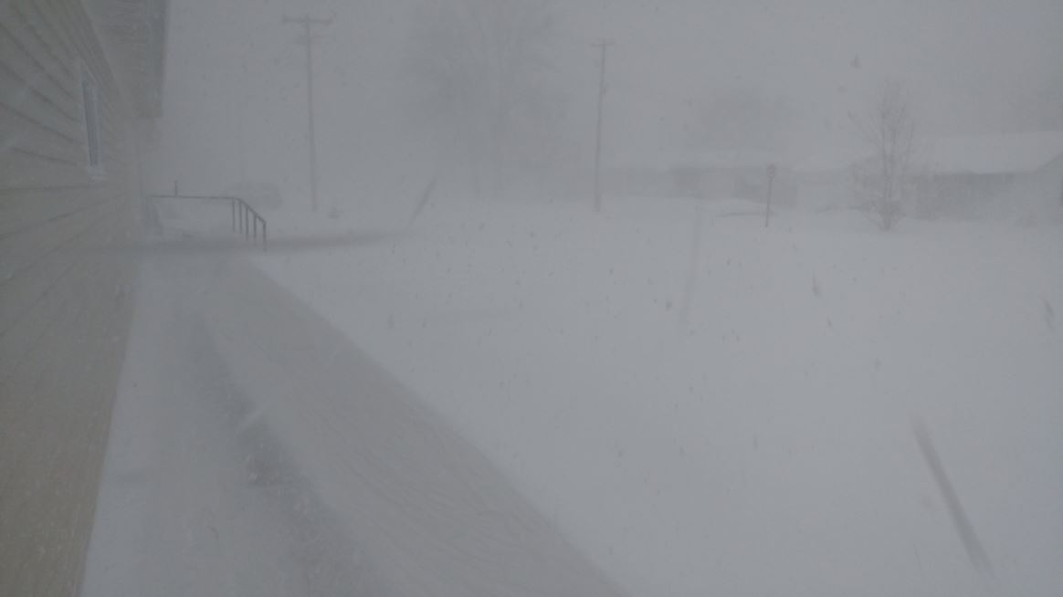Low visibility and drifts in Concord Nebraska