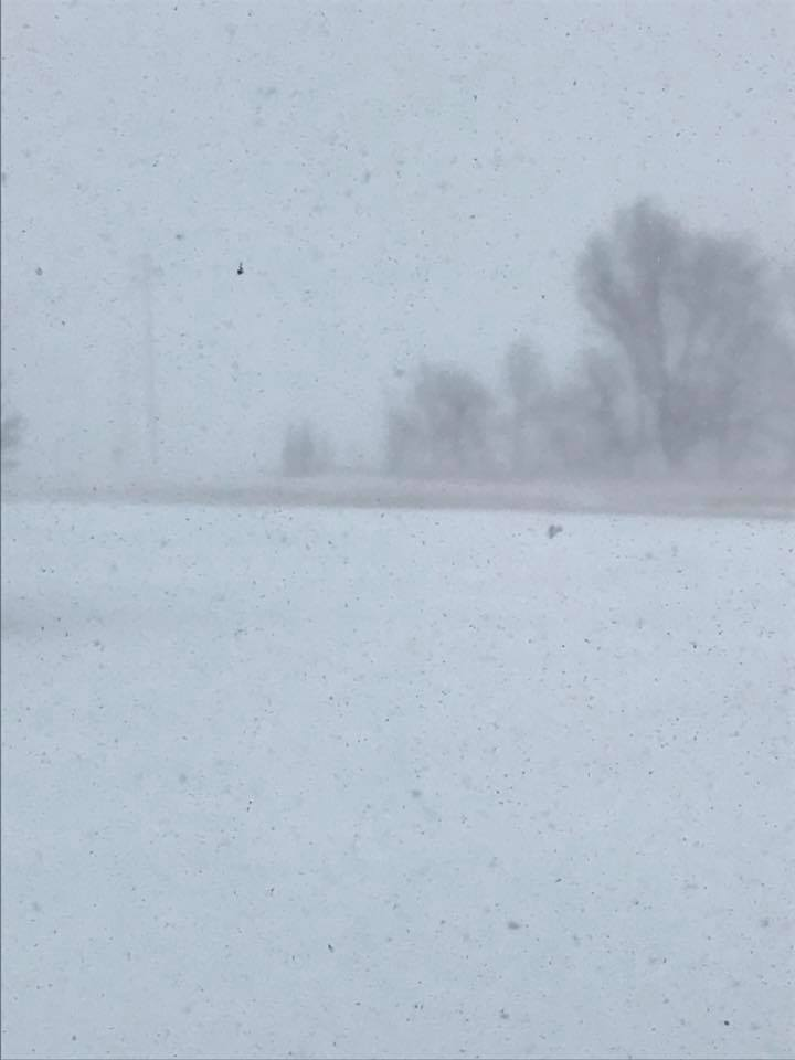 Low Visibility north of Worthington Minnesota