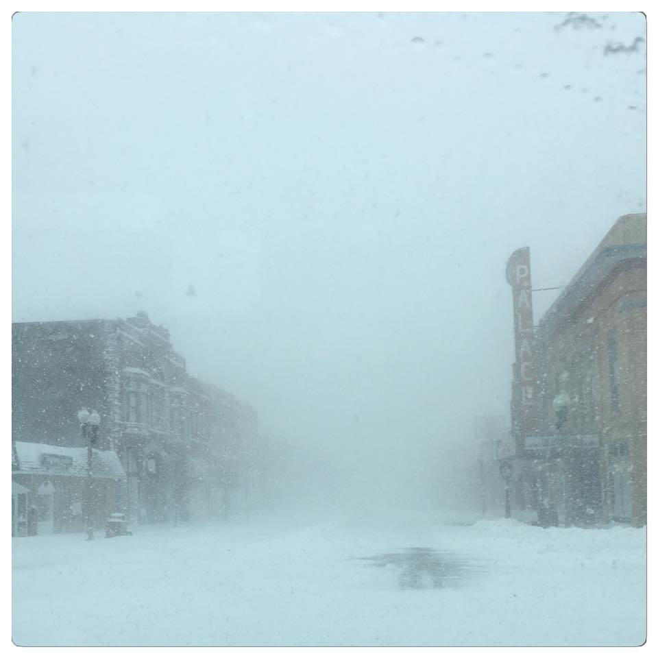 The fierce winds and heavy snow dropped visibility to near zero, even in towns like Luverne, Minnesota. Imagine what it must have been like in the open country!