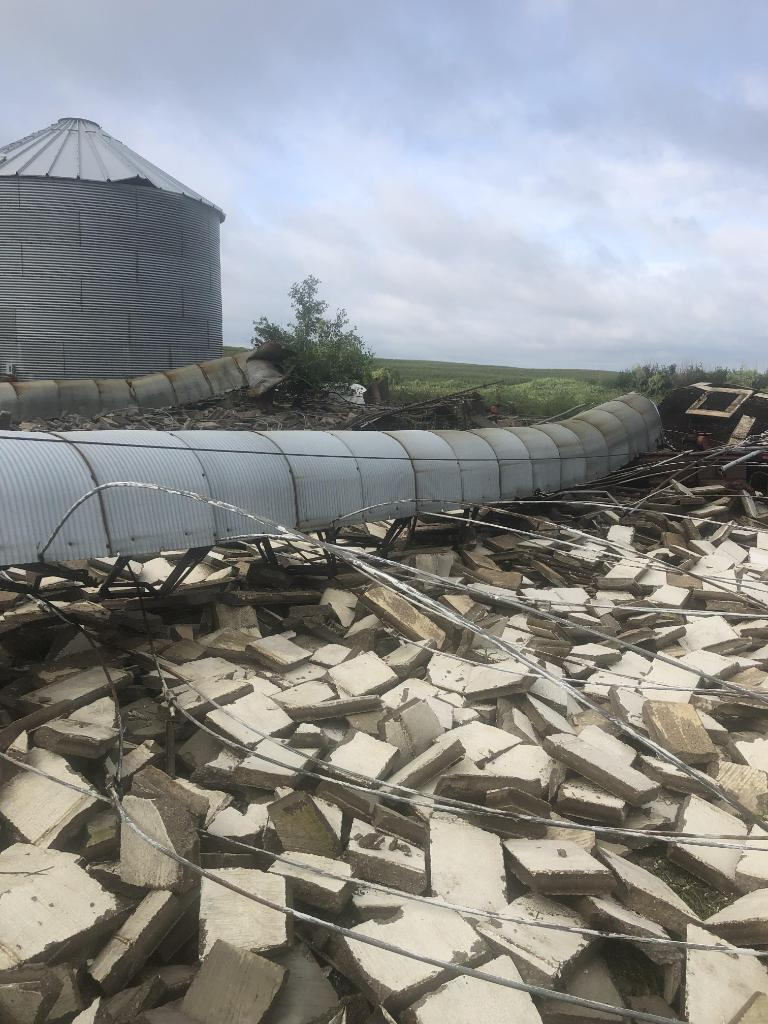 Damaged Silo near Rock Rapids