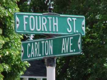 Picture of the street sign at 4th and Carlton today.  Taken 12 June 2002.