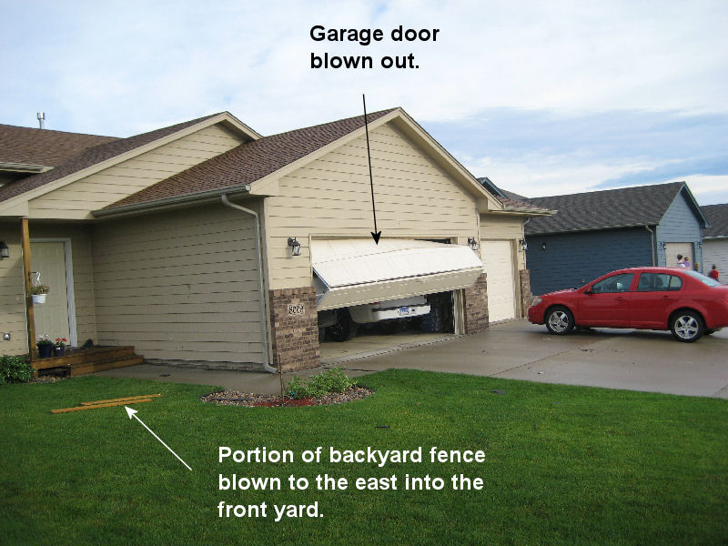 garage doors sioux fallsStorm survey of damaging winds in Sioux Falls for June 11 2010