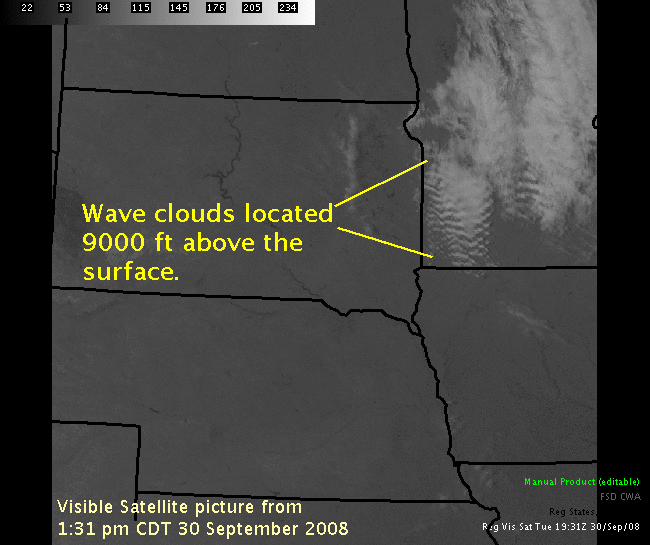 Wave clouds in southwest Minnesota