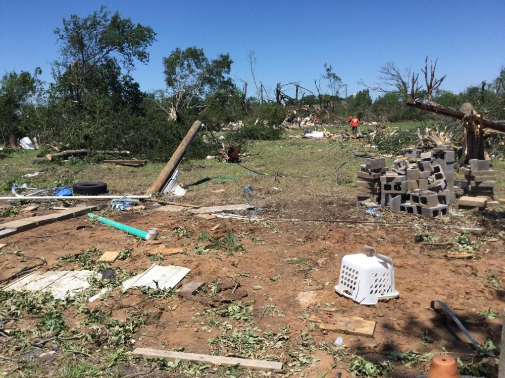 Jackson to Canton to Emory Tornado (EF-3): Tornado Damage near Fruitvale