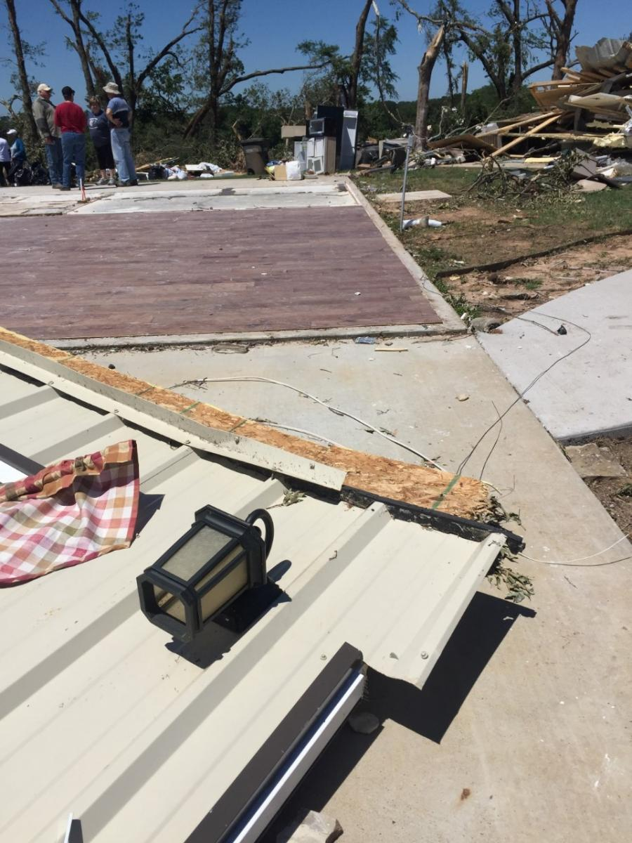 Henderson County to South Van Zandt County (EF-2). Tornado Damage in rural Henderson County