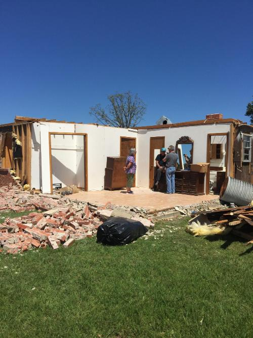 Jackson to Canton to Emory Tornado (EF-3): Tornado Damage near Emory
