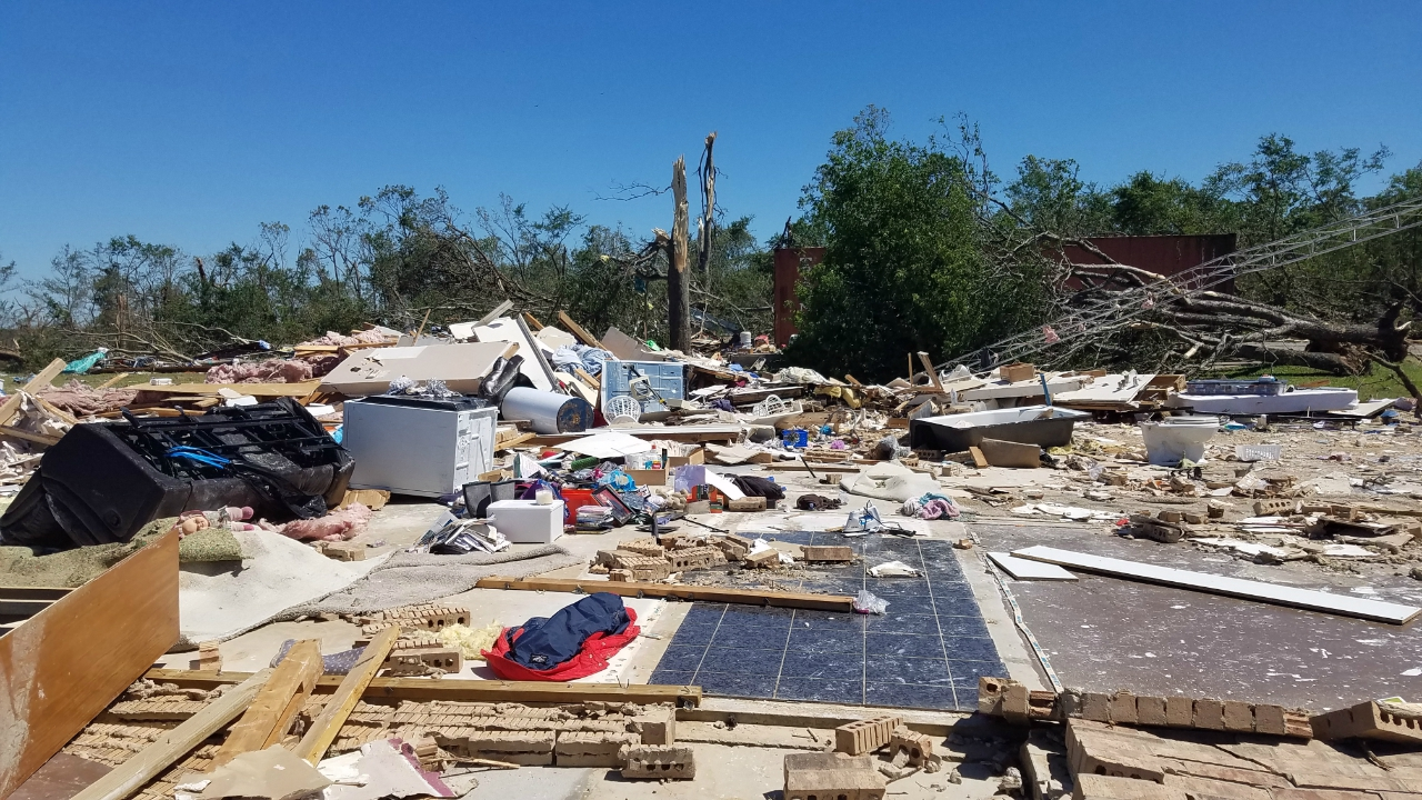 Jackson to Canton to Emory Tornado (EF-3): Tornado Damage near Canton