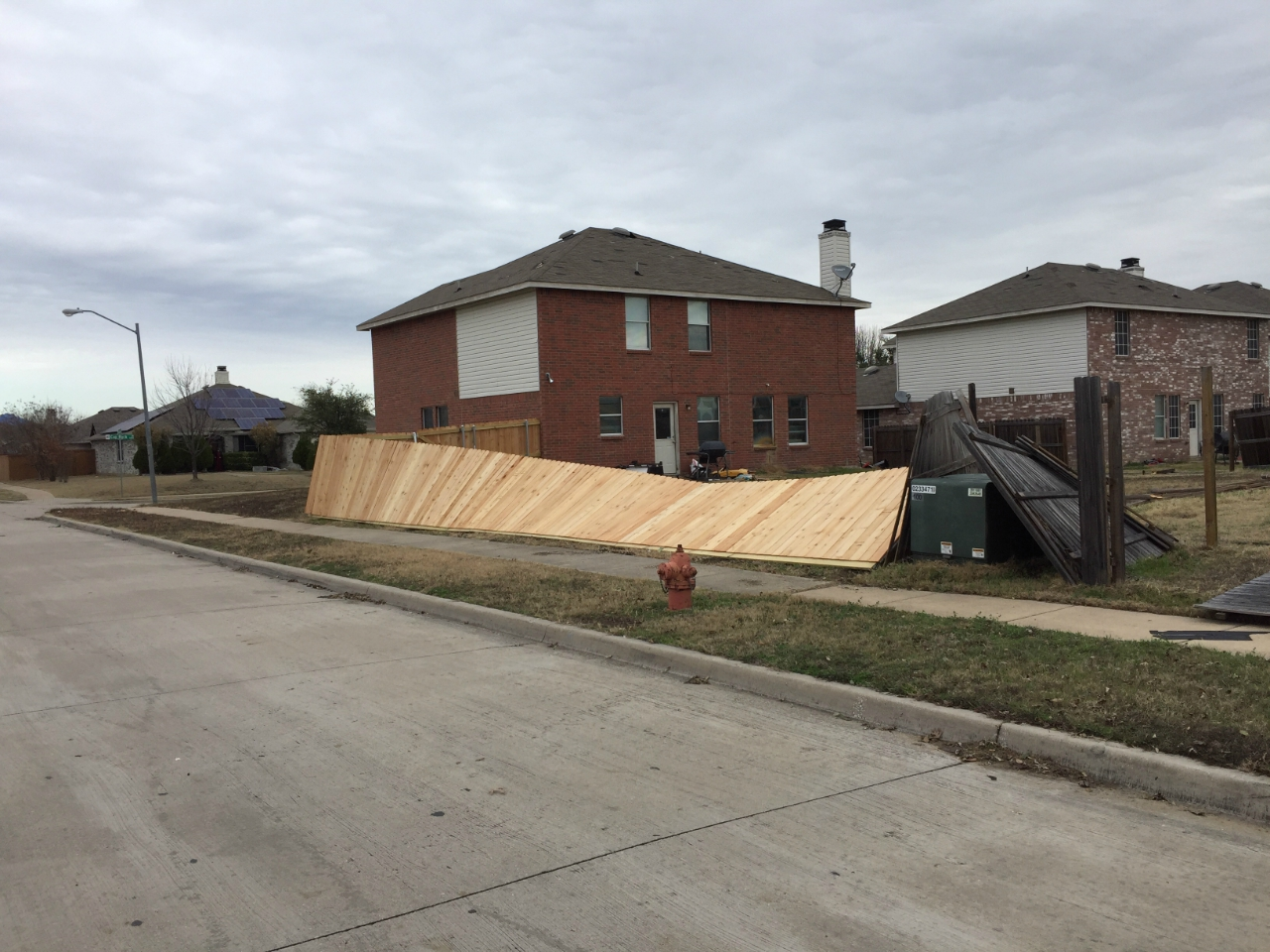 Tornado damage in Grand Prairie