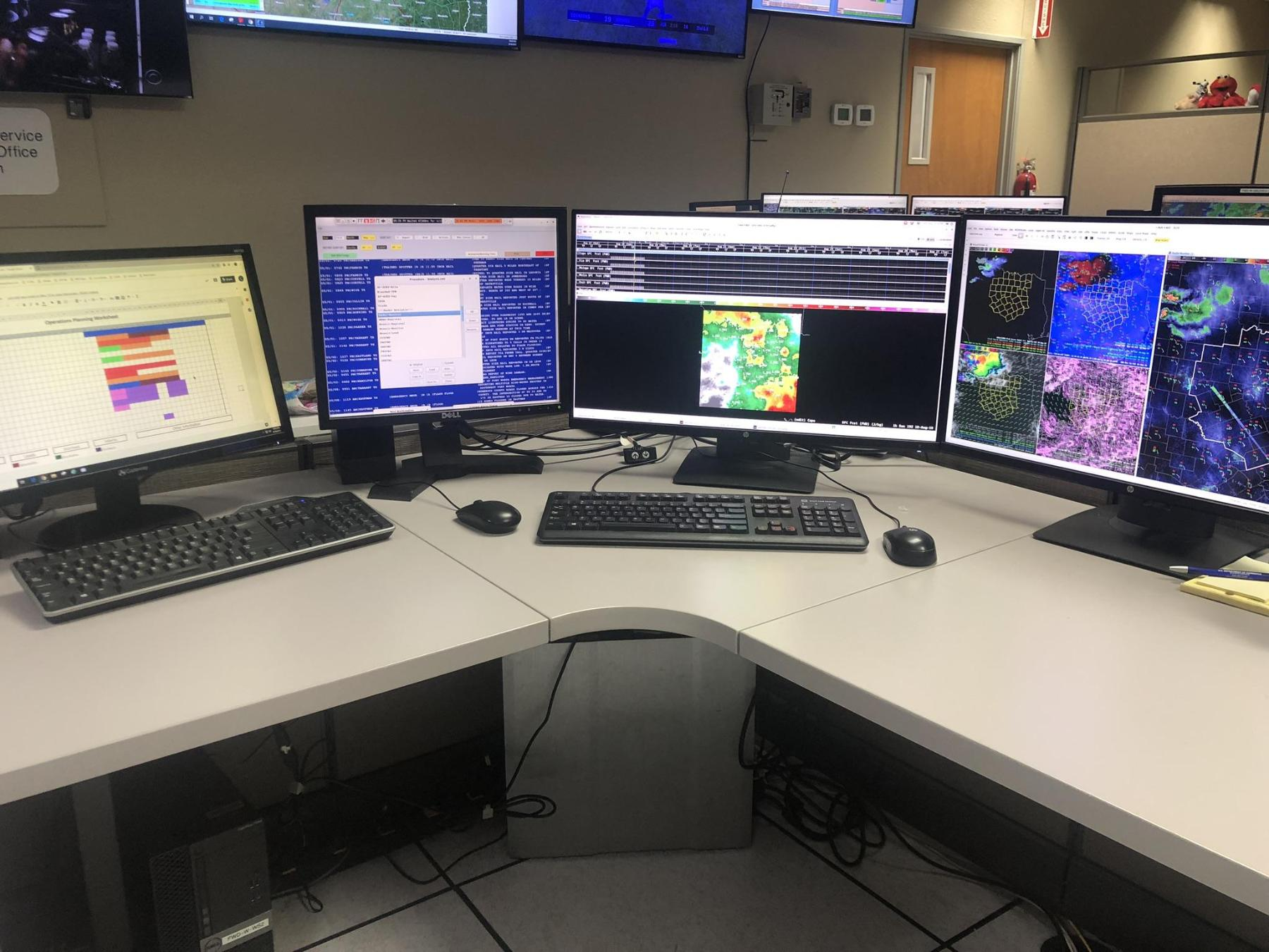Forecaster's Workstations area