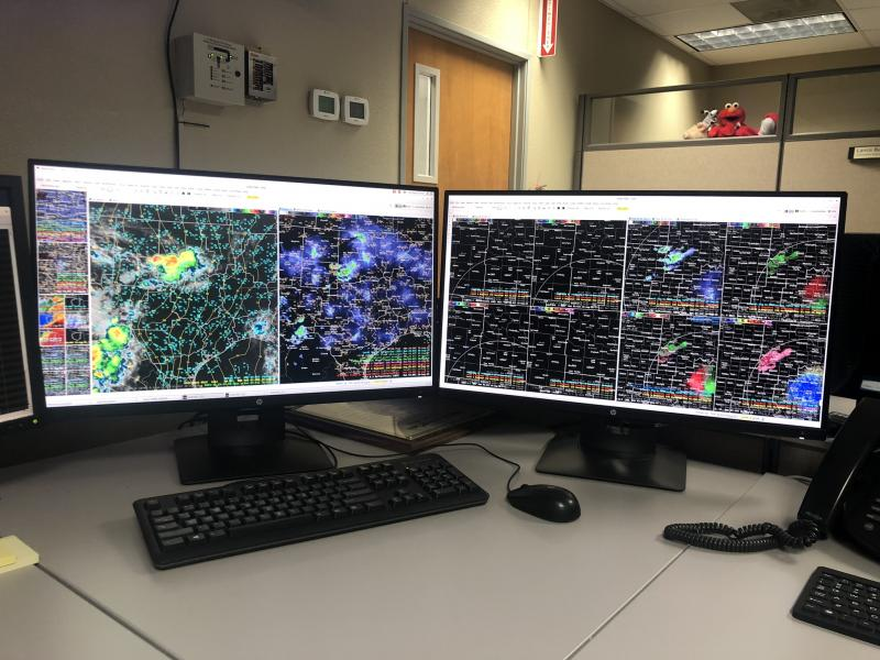 Satellite, Radar and Model Data display in AWIPS