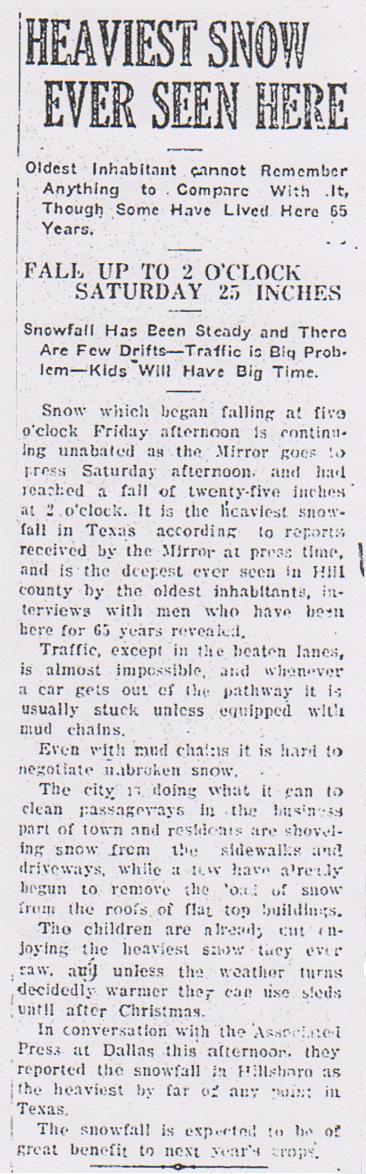 The Hillsboro Mirror - December 21, 1929