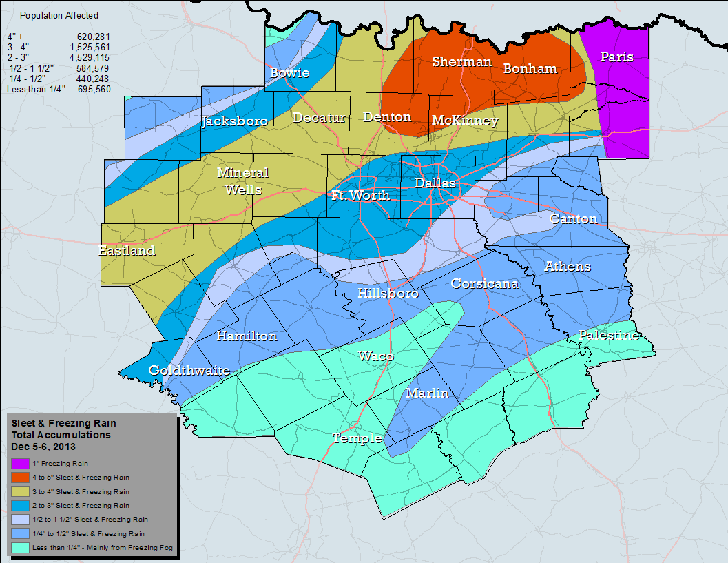 Total Snow and Sleet Accumulation Map