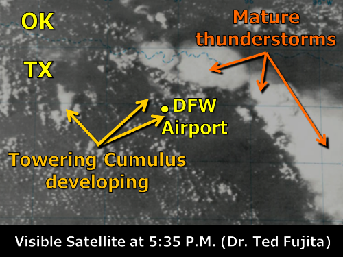 Visible Satellite Imagery at 5:35 P.M. CDT