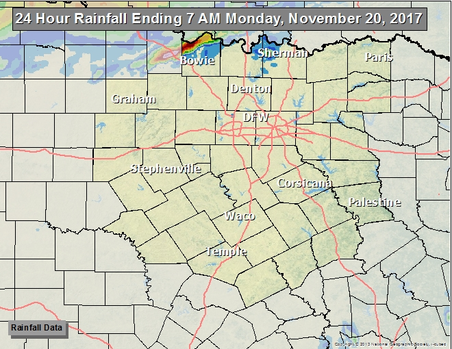NWS Ft Worth - Map north texas cities